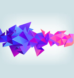 faceted 3d crystal colorful shape banner vector image