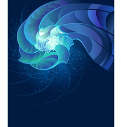 fantastic seashell vector image
