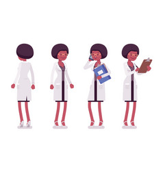 female black scientist standing vector image
