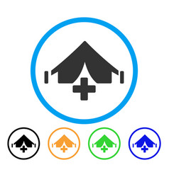 field hospital rounded icon vector image vector image