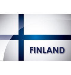 finland flag vector image