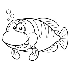 Fish outline vector