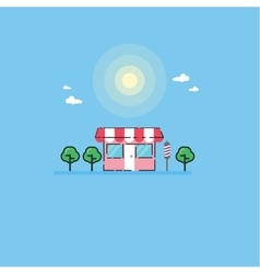 Flat style of store landscape vector