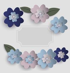 floral paper art card vector image