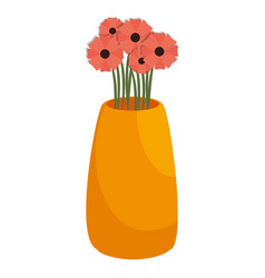 Flower vase isometric icon vector