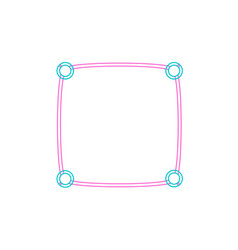 Frame border line page simple modern vector