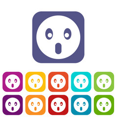 Frightened emoticons set vector
