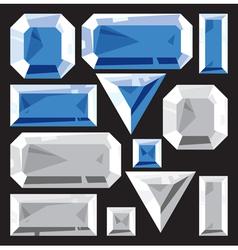Gems sapphire and diamond vector