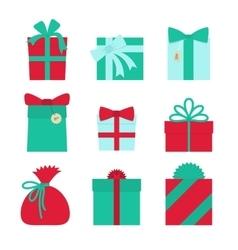 Gift set - christmas presents anniversary vector