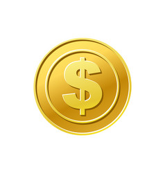 Gold coin cash money isolated on white vector