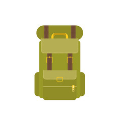 green camping backpack vector image