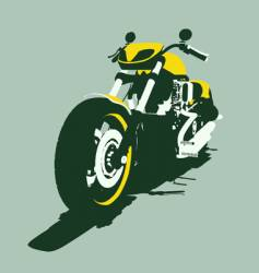 Harleycustom bike back view vector