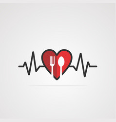 heart food logo iconelementand template vector image