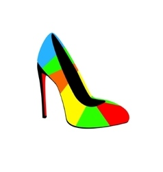 high-heeled colorful shoes vector image