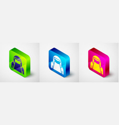 Isometric muslim woman in niqab icon isolated vector