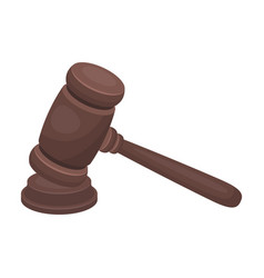 judge wooden hammer hammer for deducing the vector image