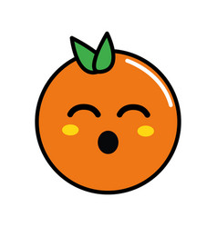 Kawaii cute funny orange fruit vector