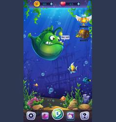 mahjong fish world - mobile vector image