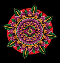 mandala tattoo flash art vector image