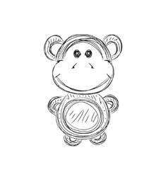 Monkey sketch vector