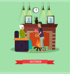 Mother concept in flat style vector