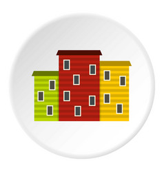 Multicolored argentine houses icon circle vector