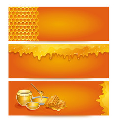 Natural honey advertising for organic shop vector