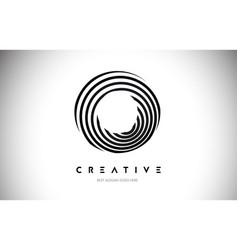 O lines warp logo design letter icon made with vector