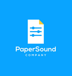 Paper sound logo icon vector