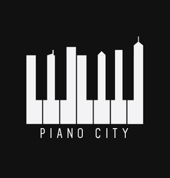 Piano City vector