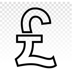Pound currency sign or british sterling vector