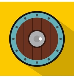 Round army shield icon flat style vector