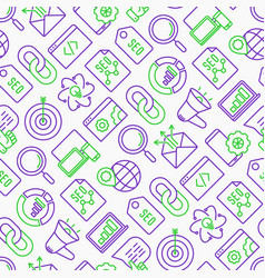 seo and development seamless pattern vector image