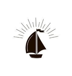 Ship boat icon vector