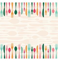 Silverware seamless pattern vector