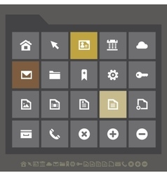 Simple web icons collection flat gray serie vector