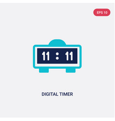 Two color digital timer icon from education vector