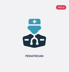 Two color pediatrician icon from professions vector