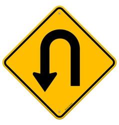 U-turn roadsigns vector