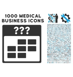 Unknown Month Calendar Grid Icon With 1000 Medical vector