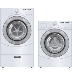 wash machine and dryer vector image