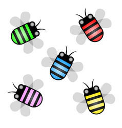 Wasp color vector