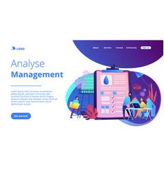Water management smart city concept vector