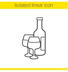 wine linear icon vector image
