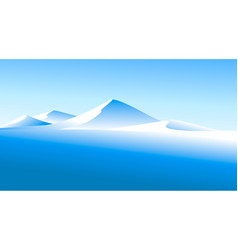 winter landscape with high mountains vector image
