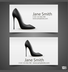 womens shoe business card vector image