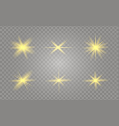 yellow glowing light vector image
