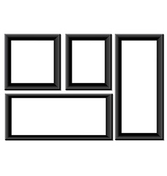 Black picture frames vector image