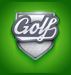 premium symbols of golf emblem vector image vector image