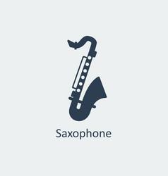 saxophone icon silhouette icon vector image vector image